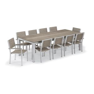 Metal Frame Wooden Dining Table