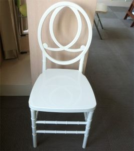 White Plastic Resin Phoenix Chair with Red Seat Pad pictures & photos