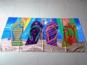 Wholesale Price Custom Reactive Dye Printed Cotton Beach Towel pictures & photos