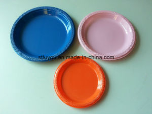 "6""/7""/9""/10"" Disposable Tableware Theme Plastic Colored Party Plate"