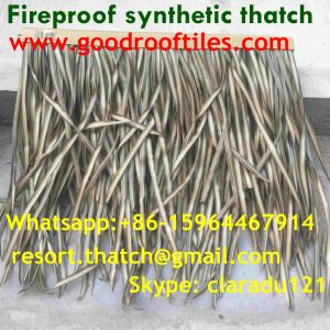 Fireproof Artificial Thatch Synthetic Thatch Plastic Palm Thatch Roofing Tiki Hut pictures & photos