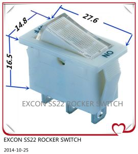 Rocker Power Switch Ss22 Series with LED Light with Function on-off Switch