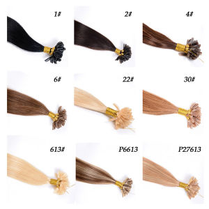 "18"" 20"" 22"" 24"" 100g Italian Keratin Nail Tip U Tip, Stick Tip, I Tip, Flat Tip Hair Extensions, 100% India Virgin Remy Human Hair pictures & photos"
