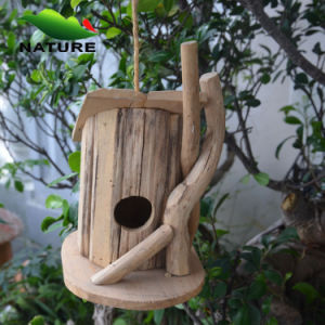 Nature Wood Handmade Bird House for House