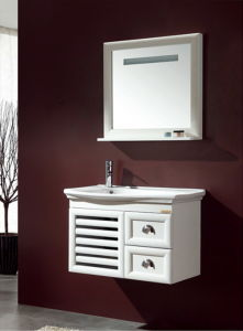 Solid Wood Bathroom Cabinet Ca-M126 pictures & photos