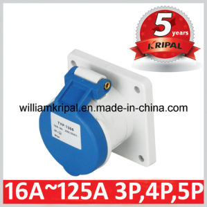 IP44 16A 2p+E Single Phase Industrial Panel Socket pictures & photos