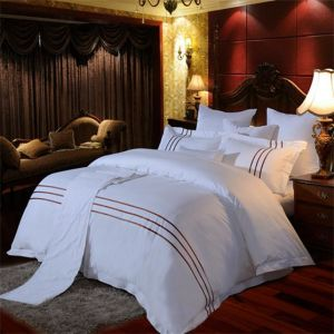 Awesome Hot Sale Chic Design Satin Hotel Used Bedding Set