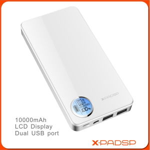 10000mAh Portable Power Bank Charger with LCD Display