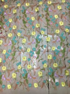 Flower Embroidery Lace Fabric for High Quality Dress pictures & photos