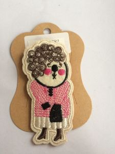 Cute Characters Brooch with Fabric
