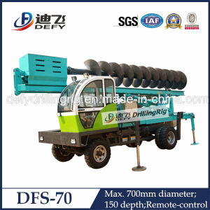 Truck Mounted Portable Sand Auger Drilling Machine Dfs-70 pictures & photos