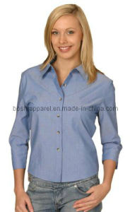 Hot Sale Women Slim Fit Formal Shirt (LSH02) pictures & photos