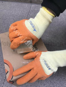 Safety Work Glove with Wrinkle Latex Coating (LY2017) pictures & photos