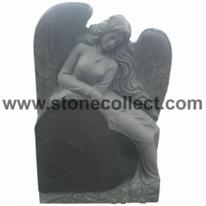 Granite Headstone with Heart & Angel Shape