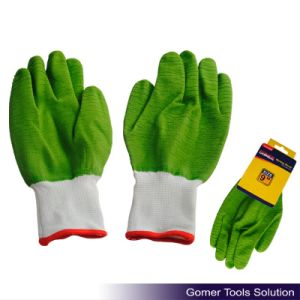 Green Latex Full Coated Safety Working Gloves