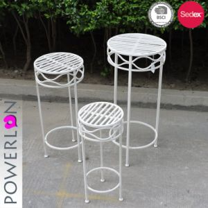 Round Plant Stand S 3 Set Vintage Style