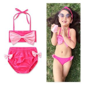 a29d4b37c6 China Baby Little Girls Flowers Print Bowknot Bandage Bikini Bathing ...