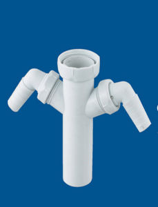 Plastic Basin Waste Valve, Wash Basin Drainer, 4-Way Drainer, pictures & photos