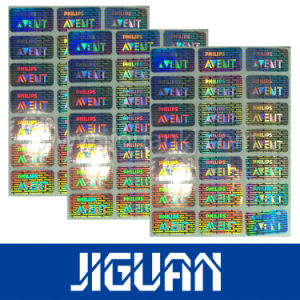 Holographic 3D Display Metalized Paper Label pictures & photos