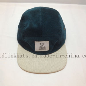 2c9c364c5317f China Wholesale Corduroy 5 Panel Hat with Leather Strap - China 5 ...