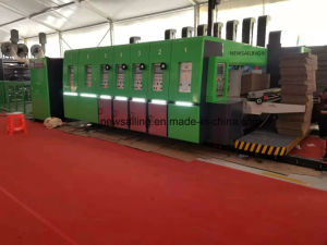 Automatic Ink Flexo Printing Slotting Die Cutting Gluing Bundling Stacking Inline Machine