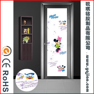 European Style Waterproof Plastic Interior Coated PVC Film Door WPC Bathroom Door with Glass pictures & photos
