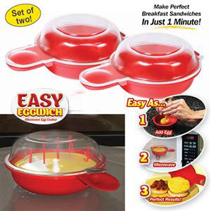 Plastic Microwave Egg Muffin Cooker Easy Eggwich pictures & photos