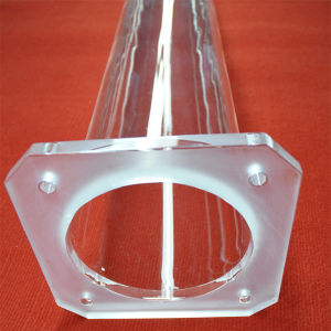 Clear Quartz Furnace Tube with Large Flange and Ball Head Joint pictures & photos