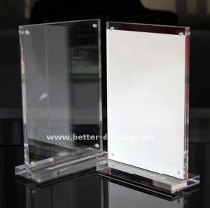 Custom Clear Acrylic Magnetic Sign Holder pictures & photos