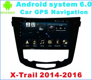 Android System 6.0 Car GPS Navigation for X-Trail 2014 with Car Player