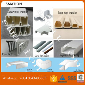 PVC Transparent Channel PVC Trunking 100X100 pictures & photos