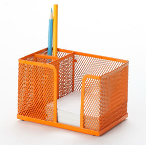 Colorful Desk Organizers/ Metal Mesh Stationery Organizer/ Office Desk  Accessories