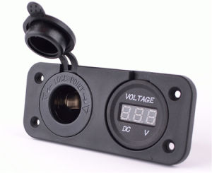 Single Tenting Voltmeter USB Port Charger Connector on Mounting pictures & photos