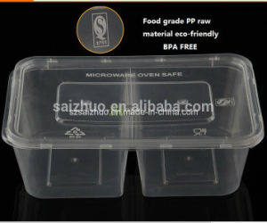 2 Compartment Clear Plastic Food Disposable Lunch Box (SZ-500) pictures & photos