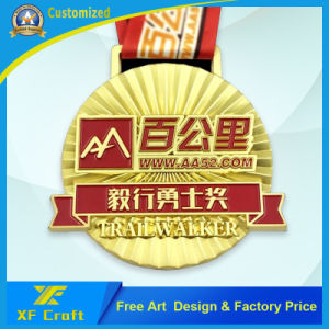 Wholesale Provide High Quality Metal Rio Sports Gold Medallion with Ribbon (XF-MD15) pictures & photos