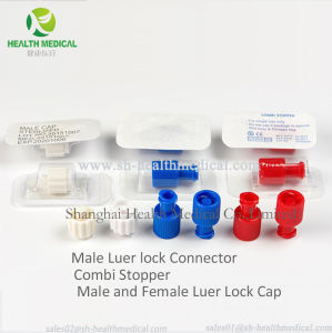 M/F Red Cap Combi Stopper Luer, Lock Cap Connector
