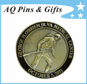 Enamel Metal Coin with 3D Logo, Challenge Coin pictures & photos