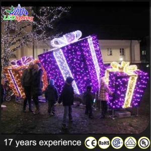 waterproof decoration light 3d christmas lighted gift box - Lighted Gift Boxes Christmas Decorations