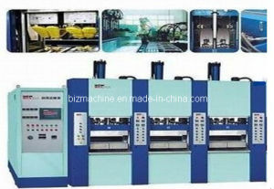 EVA Slipper Foaming Injection Molding Machine 3stations pictures & photos