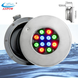 Underwater LED Swimming Pool Light with Stainless Steel Niches