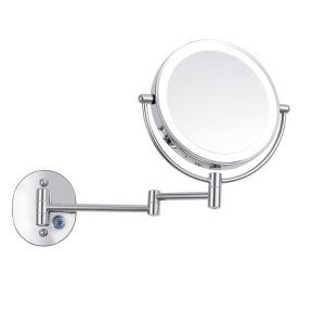Wall Mounted Sanitary Ware Type 1x And 10x Magnification Mirror Hotel Bathroom Furniture