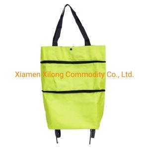 Functional Portable Folding Shopping Bag Oxford Cloth Vest Style Reusable