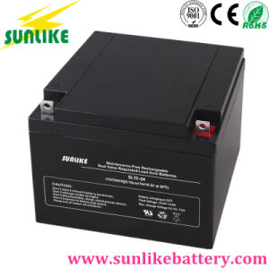 12V24ah Deep Cycle Battery Solar UPS Sealed Lead Acid Battery pictures & photos