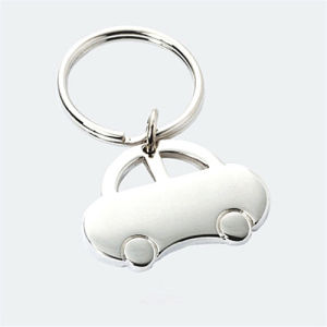 Hot Sale Car Shape Simple Metal Car Key Chain (F1099)