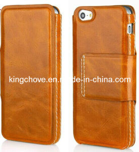 Good Quality Shiny Oil Painted Leather iPhone 5 Case (KCI09)