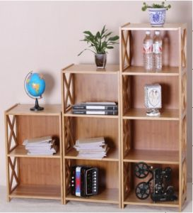 Bamboo Commodity Shelf Display Rack for Household Bookcase (QW-JCSG42/52)