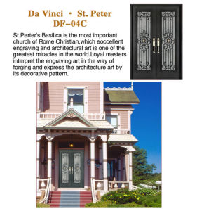 China Classic Door With Steel Safety Door Grill Design For House