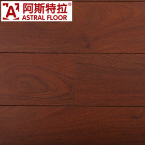 Hot Color Waterproof HDF Walnut V-Groove Laminate Flooring pictures & photos