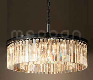 China modern large luxury clear glass prism round chandelier for modern large luxury clear glass prism round chandelier for living room mozeypictures Choice Image