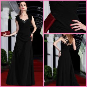 2012 Newest Free Shipping Sweetheart A Line Black Riffle Evening Gowns (ZX-303)